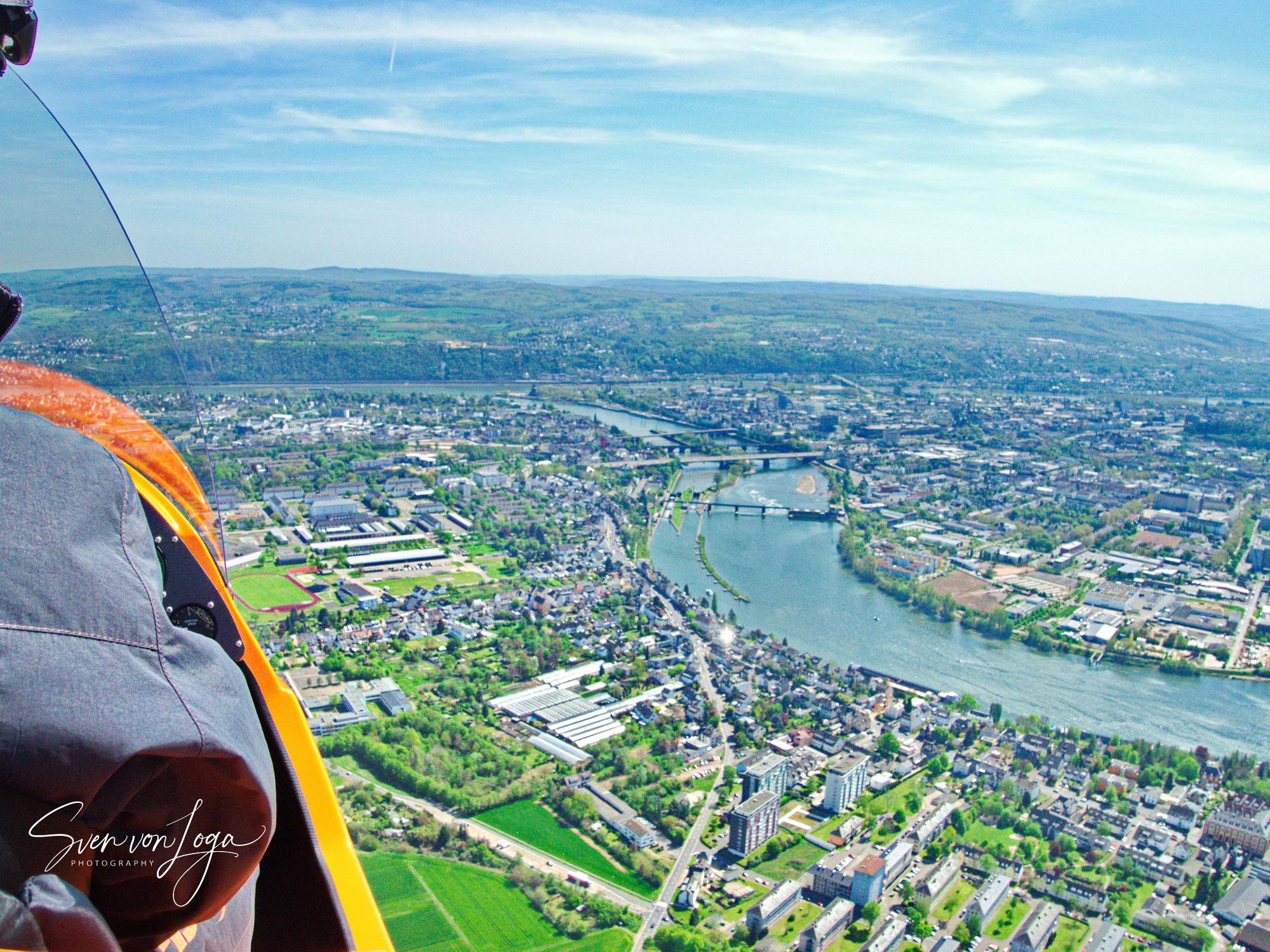 Der große Rheinlandflug – mit dem Gyrocopter  über Rhein, Mosel und Vulkaneifel